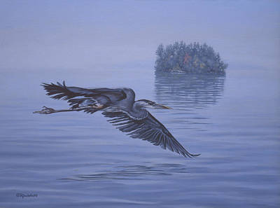 Stork Painting - The Fisherman by Richard De Wolfe