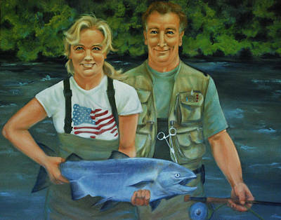 Fish Painting - The Fisherman's Wife by Jani Freimann