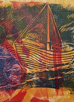 The Fishing Boat Print by Cynthia Lagoudakis