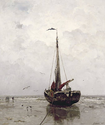 Soaring Painting - The Fishing Boat by Jacob H Maris