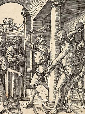 Saviour Drawing - The Flagellation by Albrecht Durer