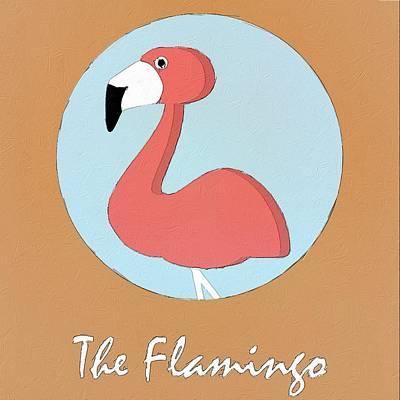 Flamingos Painting - The Flamingo Cute Portrait by Florian Rodarte