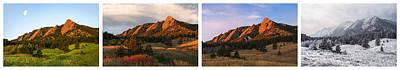 The Flatirons - Four Seasons Panorama Print by Aaron Spong