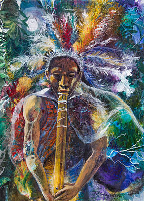 The Flute Player Original by Patricia Allingham Carlson