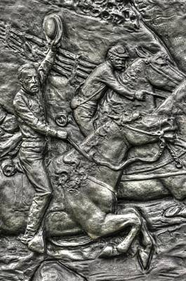 The Flying Battery Detail-f 6th New York Independent Battery Horse Artillery Gettysburg Autumn Print by Michael Mazaika