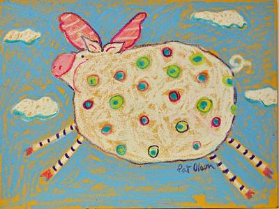 Pastel - The Flying Pig by Pat Olson