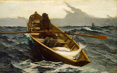 Rocky Digital Art - The Fog Warning by Winslow Homer