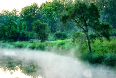 The Foggy Lake Print by Kimberleigh Ladd