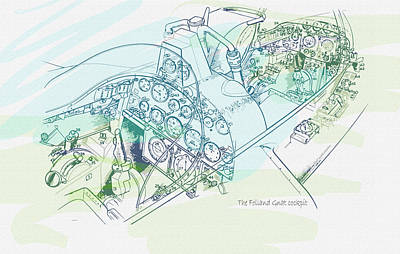 The Folland Gnat Cockpit Original by Don Kuing