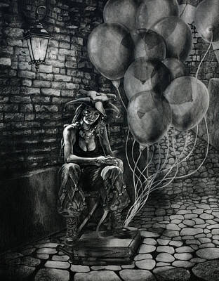 The Fool Dreamer Drawing Print by Kd Neeley