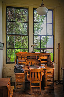 The Foreman's Desk Print by Paul Freidlund