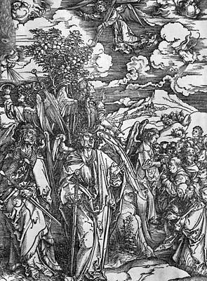 Durer Painting - The Four Angels Holding The Winds by Albrecht Durer or Duerer