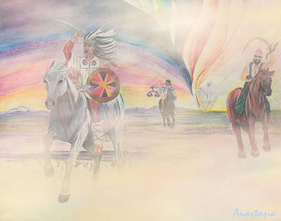 The Four Horsemen Approaching Print by Anastasia Savage Ealy