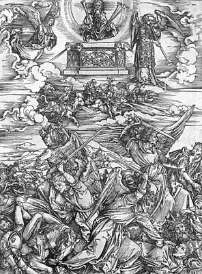 The Four Vengeful Angels Print by Albrecht Durer or Duerer