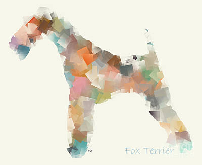 Abstract Painting - The Fox Terrier Modern by Bri B
