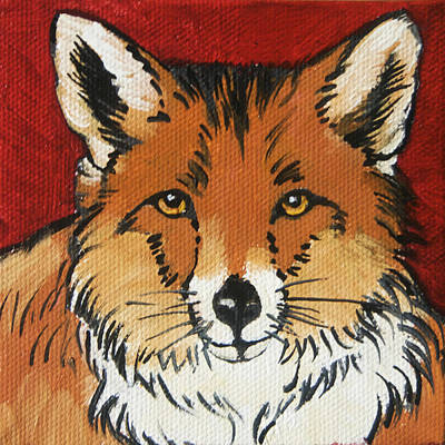 Red Fox Painting - The Fox by Tracie Thompson