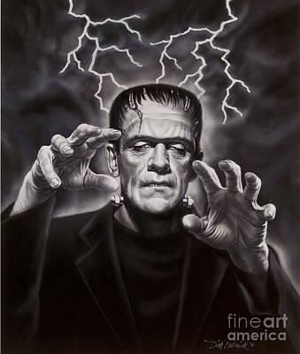 The Frankenstein Monster Print by Dick Bobnick