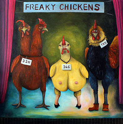 Cyclops Painting - The Freaky Chicken Competition by Leah Saulnier The Painting Maniac