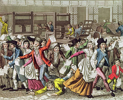 The Freedom Of The Press, 1797 Coloured Engraving Print by French School