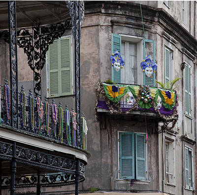 Old Stone Photograph - The French Quarter During Mardi Gras by Mountain Dreams