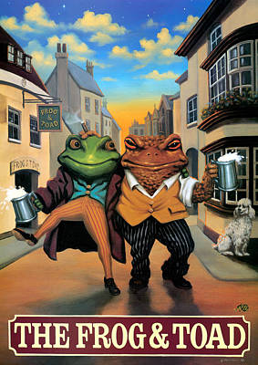 Father Painting - The Frog And Toad by Peter Green