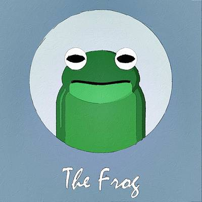 Amphibians Digital Art - The Frog Cute Portrait by Florian Rodarte