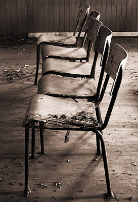 Empty Chairs Photograph - The Frontline by Jerry Cordeiro