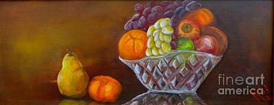 Tangerine Painting - The Fruit Bowl by Kate Lomax