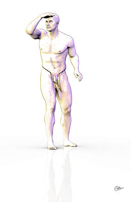 Male Nude Drawing Drawing - The Future Lost by Quim Abella