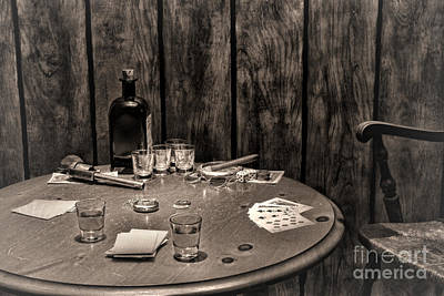 The Gambling Table Print by Olivier Le Queinec