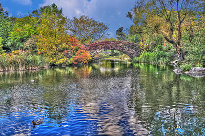 Central Park Photograph - The Gapstow Bridge At The Pond In Central Park Manhattan 2 by Randy Aveille