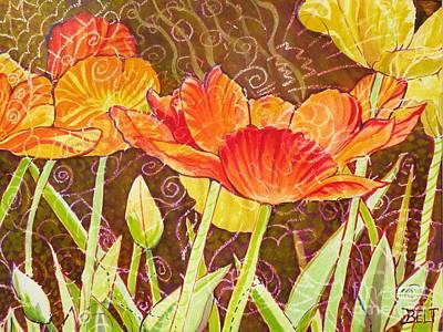 Artist Christine Belt Painting - The Garden Dance by Christine Belt