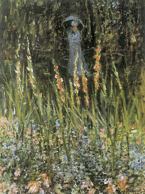 Gladiolus Painting - The Garden Gladioli by Claude Monet