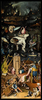 Rights Painting - The Garden Of Earthly Delights. Right Panel by Hieronymus Bosch