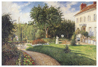 The Garden Of Les Mathurins At Pontoise Print by Camille Pissarro