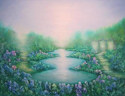 Mist Painting - The Garden Of Peace by Hannibal Mane