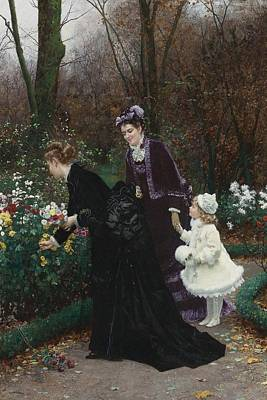 Jardin Painting - The Garden Of Sponsor by Celestial Images