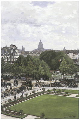 Louvre Painting - The Garden Of The Princess The Louvre by Claude Monet