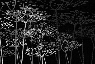 Modern Abstract Mixed Media - The Garden Of Your Mind Bw by Angelina Vick