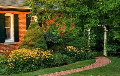 Garden Photograph - The Garden Path by Steve Harrington