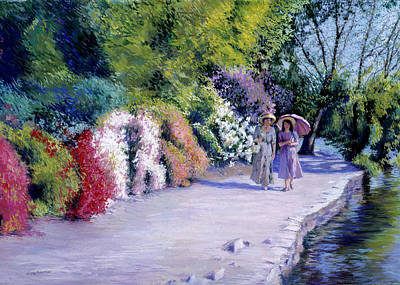 Hats Painting - The Garden Path by Susan Kuznitsky