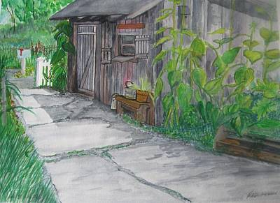 The Garden Shed Print by Kathleen Barlament
