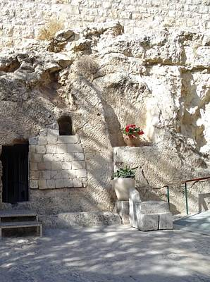 Crucifixion Photograph - The Garden Tomb  In Jerusalem by Karen Jane Jones