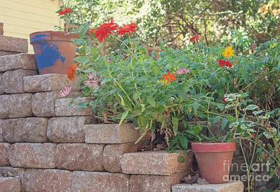 The Garden Wall Print by Kay Pickens