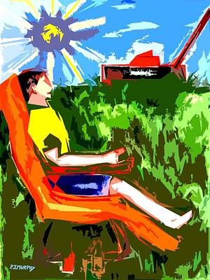 Lazy Mixed Media - The Gardening Can Wait by Patrick J Murphy