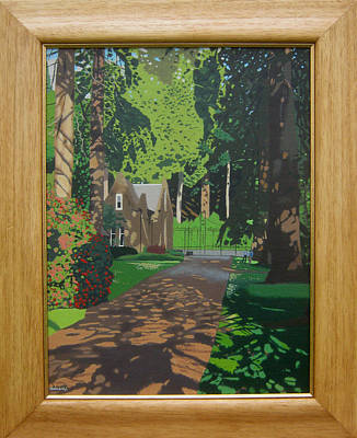 Fauna Painting - The Gardens by Malcolm Warrilow