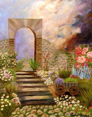 Good Times Painting - The Gate by Janis  Tafoya