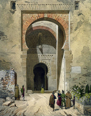 The Gate Of Justice Print by Leon Auguste Asselineau