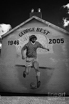 The George Best Memorial Mural On The Lower Cregagh Road In Belfast Northern Ireland Print by Joe Fox