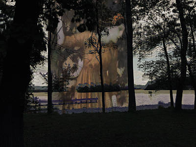 Ghost Of Swartswood Lake Nj Print by Maggie Vlazny